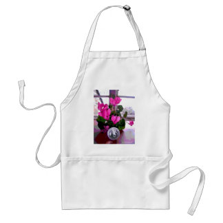 Cyclamen with Crystal Adult Apron