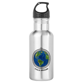 Cycle Around Stainless Steel Water Bottle