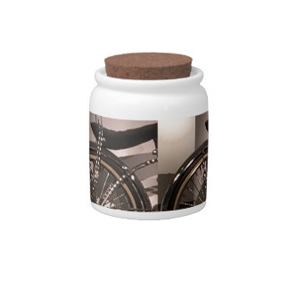 Cycle Bicycle art graphic deco template add text Candy Dishes