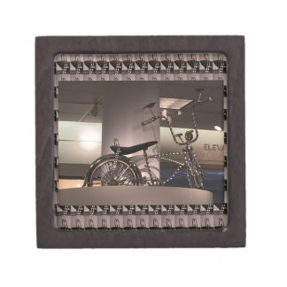 Cycle Bicycle art graphic deco template add text Gift Box