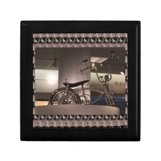 Cycle Bicycle art graphic deco template add text Jewelry Box