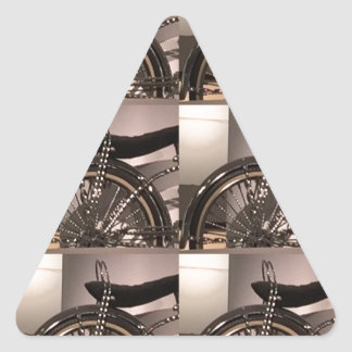 Cycle Bicycle art graphic deco template add text Triangle Sticker
