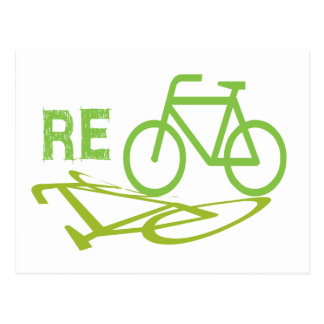 Cycle, Bicycle, Recycle Postcard