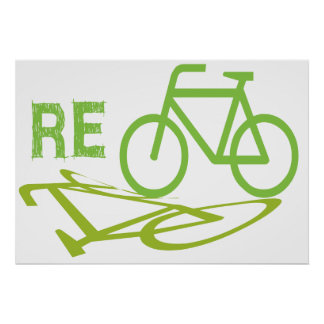Cycle, Bicycle, Recycle Poster