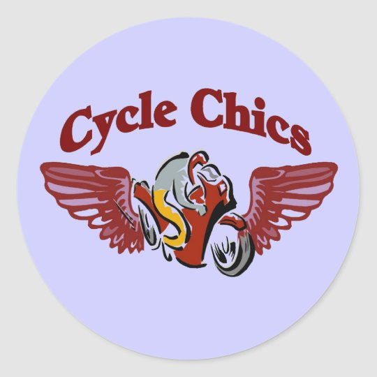 Cycle Chics Classic Round Sticker