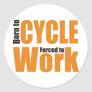 cycle classic round sticker