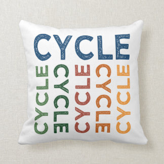 Cycle Cute Colorful Pillow