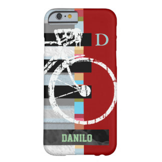 cycle/cycling , stripes and name barely there iPhone 6 case