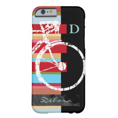 cycle/cycling & stripes personalized barely there iPhone 6 case