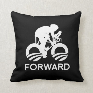 CYCLE FORWARD WITH OBAMA -.png Throw Pillows
