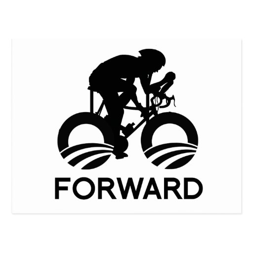 CYCLE FORWARD WITH OBAMA - -.png Postcard