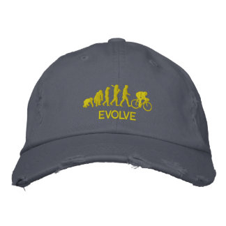 Cycle gifts - Evolution of cycling Cycle Embroidered Baseball Caps