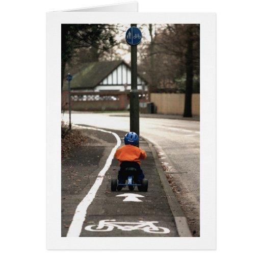 Cycle lane card