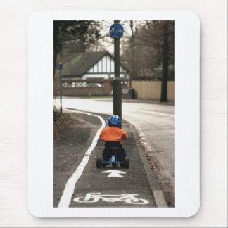 Cycle lane mouse pad