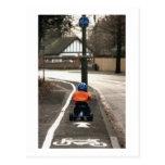 Cycle lane postcard