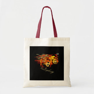 Cycle like a lion on Fire Plano Texas Cycling Tote Bag
