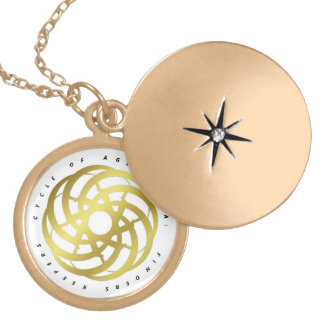 Cycle of Ages Saga:  Necklace w/ Gold-colored Logo