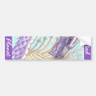 Cycle of Life Dragon Drawing Bumper Sticker