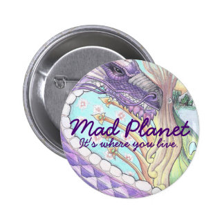 Cycle of Life Dragon Drawing Pinback Button