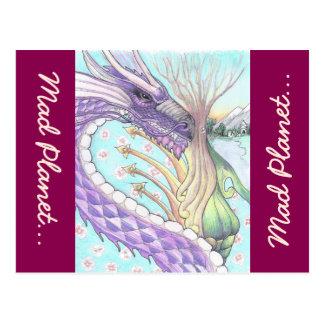 Cycle of Life Dragon Drawing Postcard