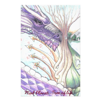 Cycle of Life Dragon Drawing Stationery