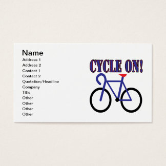 Cycle On 2 Business Card