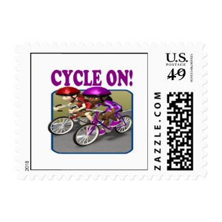 Cycle On 3 Postage Stamp