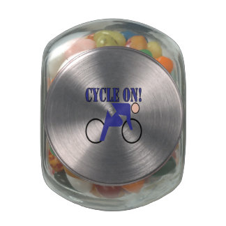 Cycle On Glass Candy Jars