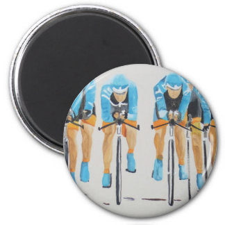 Cycle race refrigerator magnet
