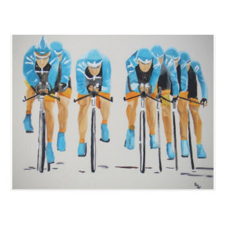 Cycle race postcard