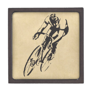 Cycle Racing Velodrome Jewelry Box