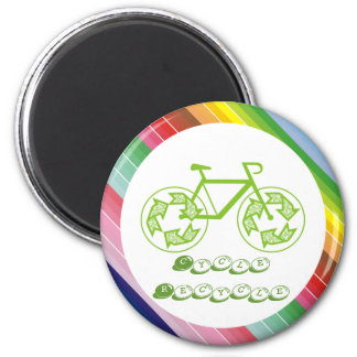 Cycle Recycle 2 Inch Round Magnet