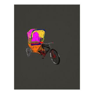 Cycle Rickshaw Gray Letterhead Template