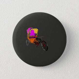 Cycle Rickshaw Gray Pinback Button