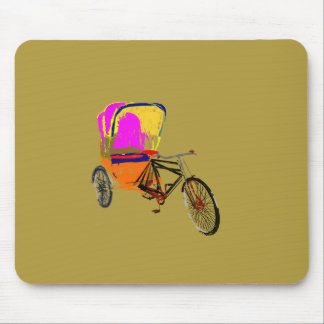 Cycle Rickshaw Olive Mouse Pad