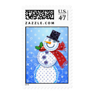 Cycle Snowman Postage