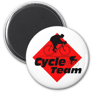Cycle Team 2 Inch Round Magnet