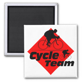 Cycle Team 2 Inch Square Magnet