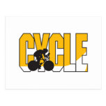 cycle text design post cards
