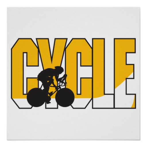 cycle text design posters