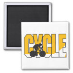 cycle text design refrigerator magnet
