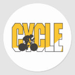 cycle text design stickers