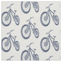 Cycle Theme Bicycle Print Fabric