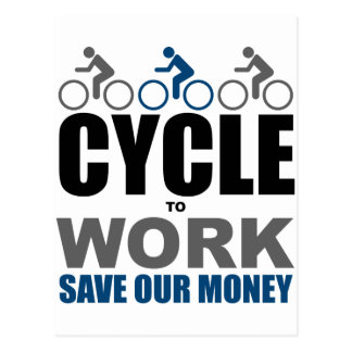 Cycle To Work Postcard