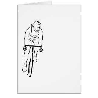Cycle Woman Card
