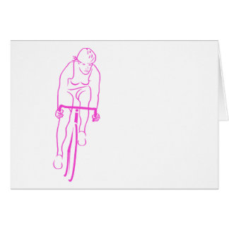 Cycle Woman Pink Card
