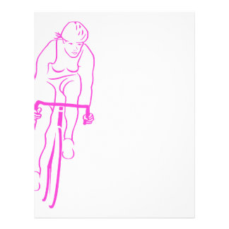 Cycle Woman Pink Customized Letterhead