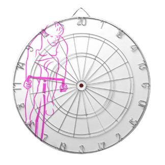 Cycle Woman Pink Dartboard