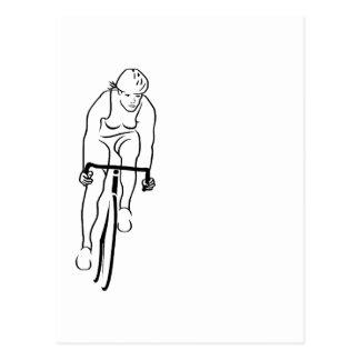 Cycle Woman Postcard