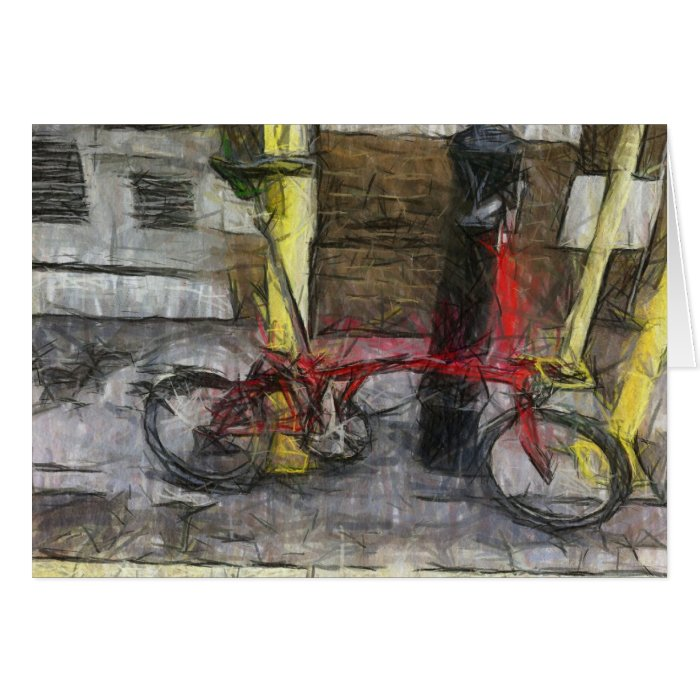 "CycleArt ""Bangers and Mash"" Notecards Card"